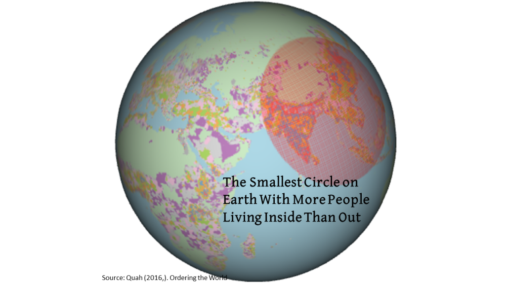 The Smallest Circle on Earth With More People Living Inside Than Out