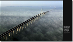 Image: Jiaozhou Bay Bridge. 12 January 2015 New York Times/David Barboza