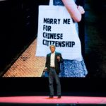 """Marry Me for Chinese Citizenship"" - on stage"