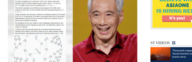 PM Lee's vacation to study to the Collatz Conjecture