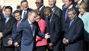 2013年,世界主要国家领导人在G20峰会上