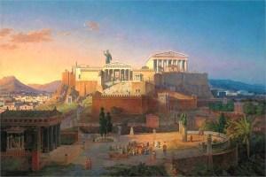 虽然斯巴达的军事力量在公元前480年抵抗波斯帝国的温泉关之战中发挥了重要作用,但此役后斯巴达选择不加入希腊城邦组成的提洛同盟。雅典作为实力最强的霸主,担任起提洛同盟仁慈的领袖,但它很快从霸主走向了帝国。此时,斯巴达加入提洛同盟反抗雅典,并在伯罗奔尼撒战争中将雅典烧成了废墟